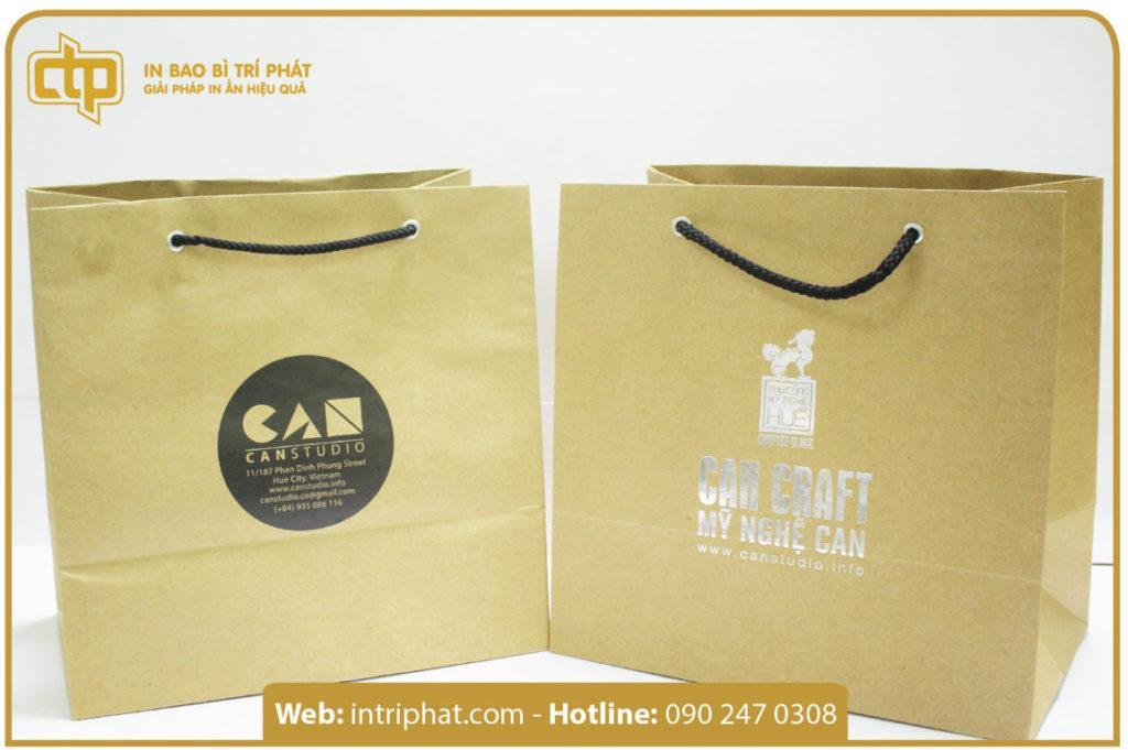 mẫu in túi giấy kraft cao cấp