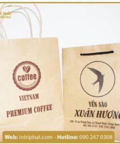 mẫu in túi giấy kraft cho shop thời trang