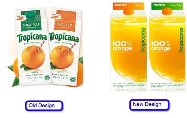Sự khác biệt trong thiết kế bao bì của nhãn hiệu nổi tiếng này