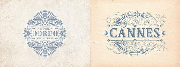 thiết kế logo theo phong cách cổ điển