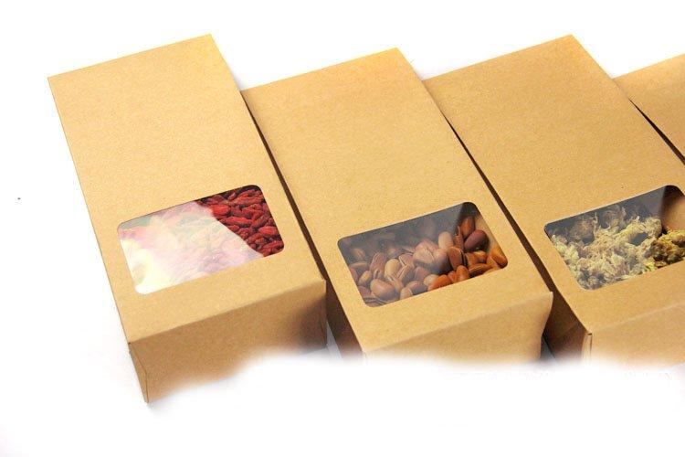 Mẫu in túi giấy kraft có cửa sổ dùng cho ngành thực phẩm