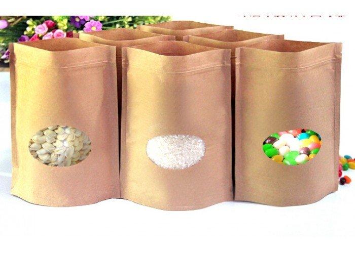 In túi giấy kraft đựng gạo