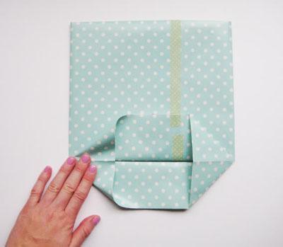 cách xếp túi giấy