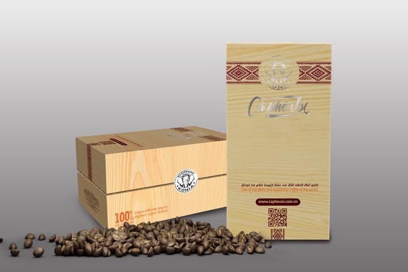 Mẫu in hộp giấy đựng cà phê cao cấp
