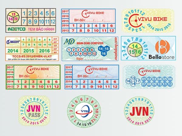 tem decal và tem bảo hành