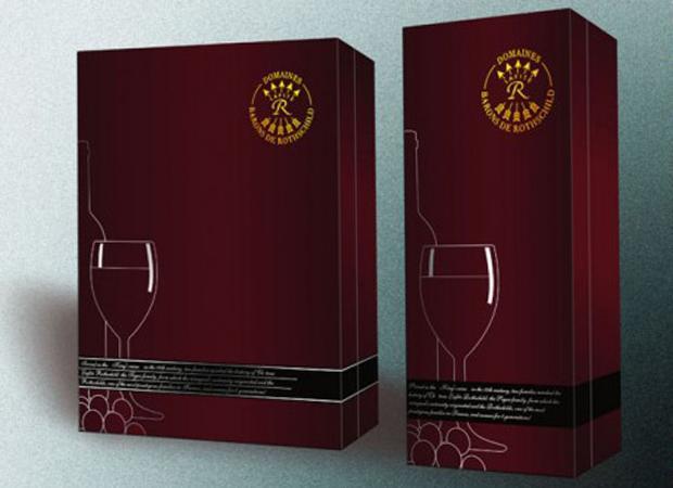 Mẫu bao bì hộp giấy đựng rượu vang cao cấp