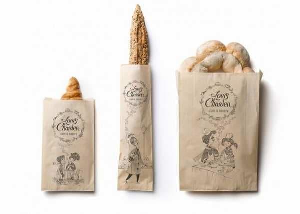 Mẫu in túi giấy kraft đựng bánh mì