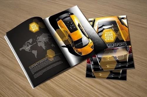 Mẫu in catalogue quảng cáo ô tô cho đẹp