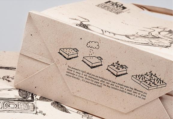 mẫu túi giấy thiết kế độc đáo