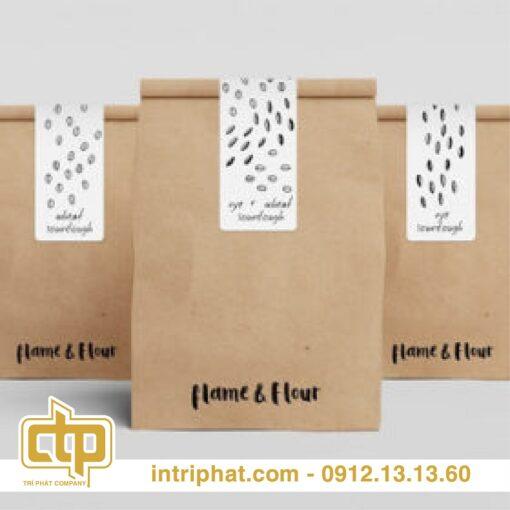 In túi giấy đựng thức ăn