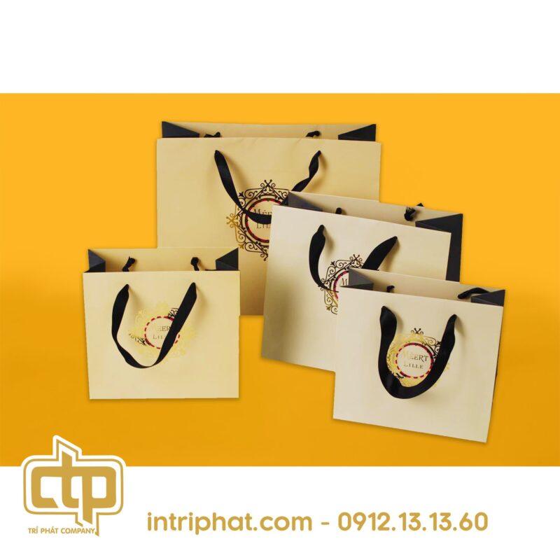 mẫu túi giấy đựng quần áo cho shop thời trang