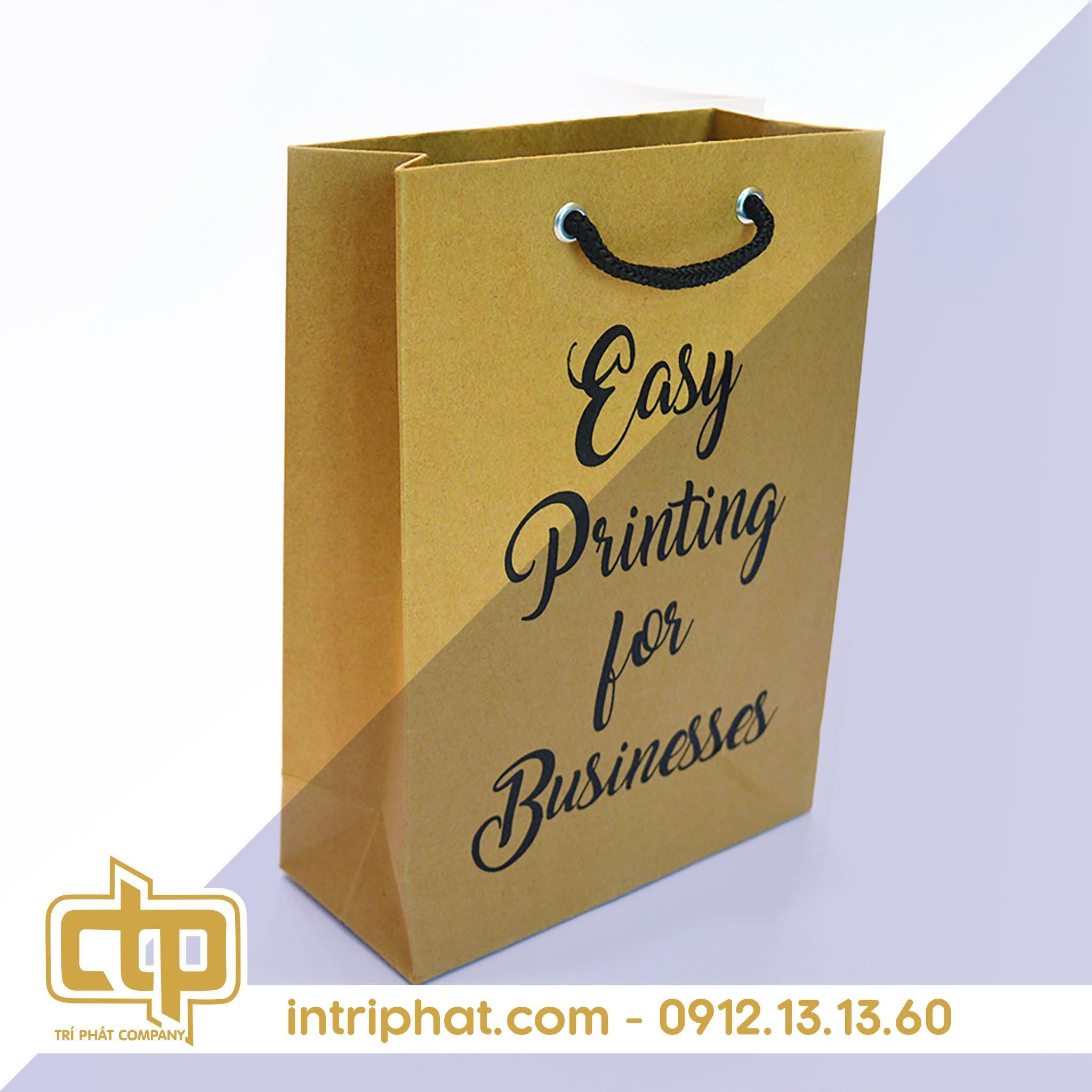 túi giấy kraft đựng sản phẩm cho shop thời trang