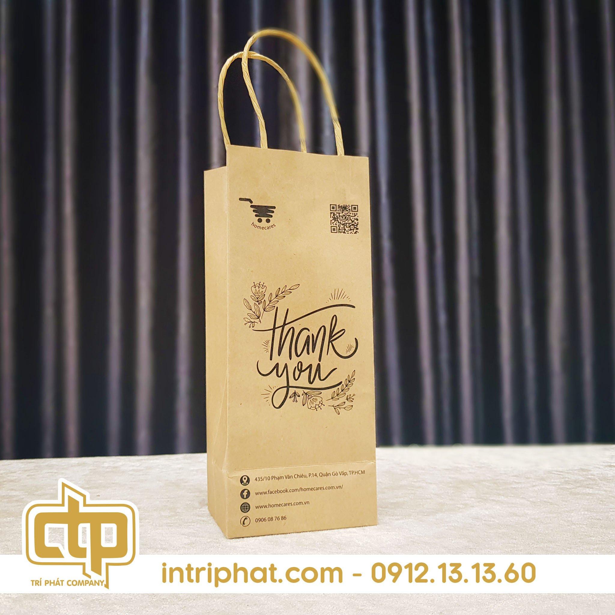 in túi giấy kraft đẹp cho cửa hàng