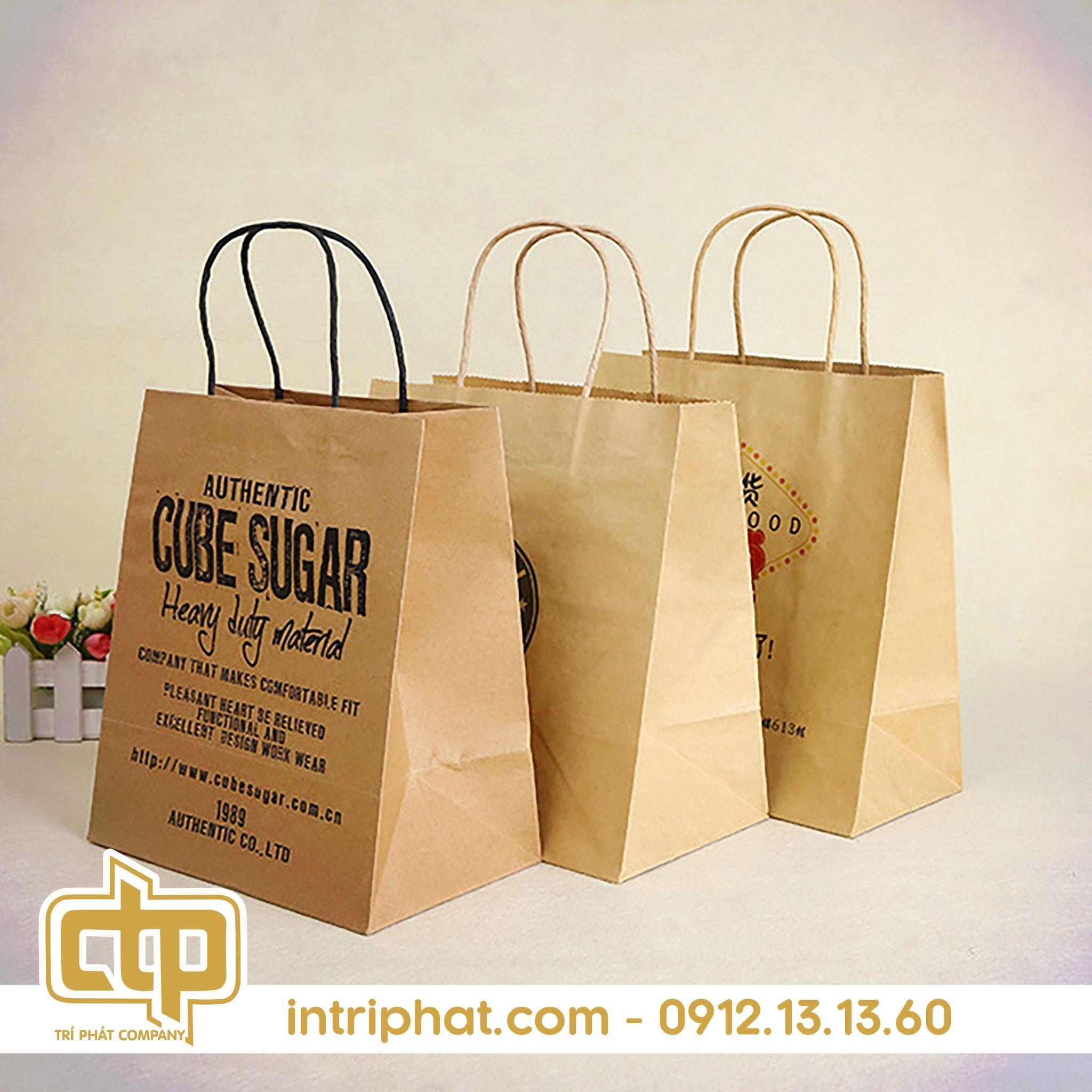 mẫu túi giấy đẹp cho shop thời trang