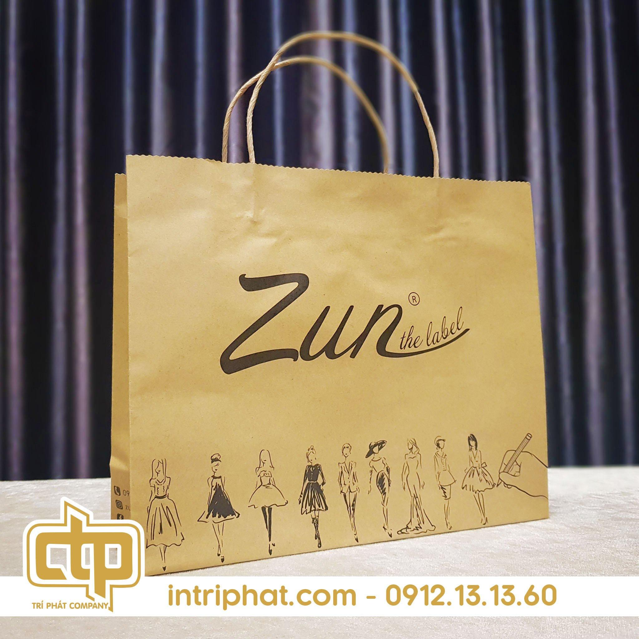 mẫu túi giấy kraft cho shop thời trang
