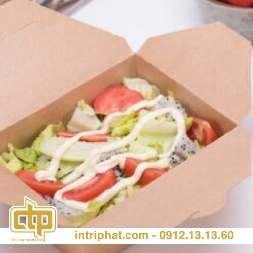 in hộp giấy đựng salad