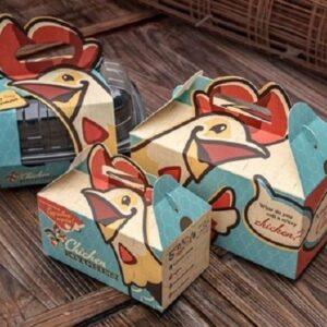 In hộp đựng gà nướng