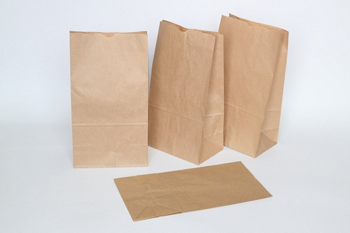 in túi giấy kraft gấp miệng