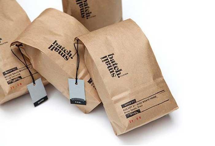 túi giấy kraft gấp miệng đựng sản phẩm