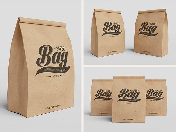 túi giấy kraft gấp miệng chất lượng
