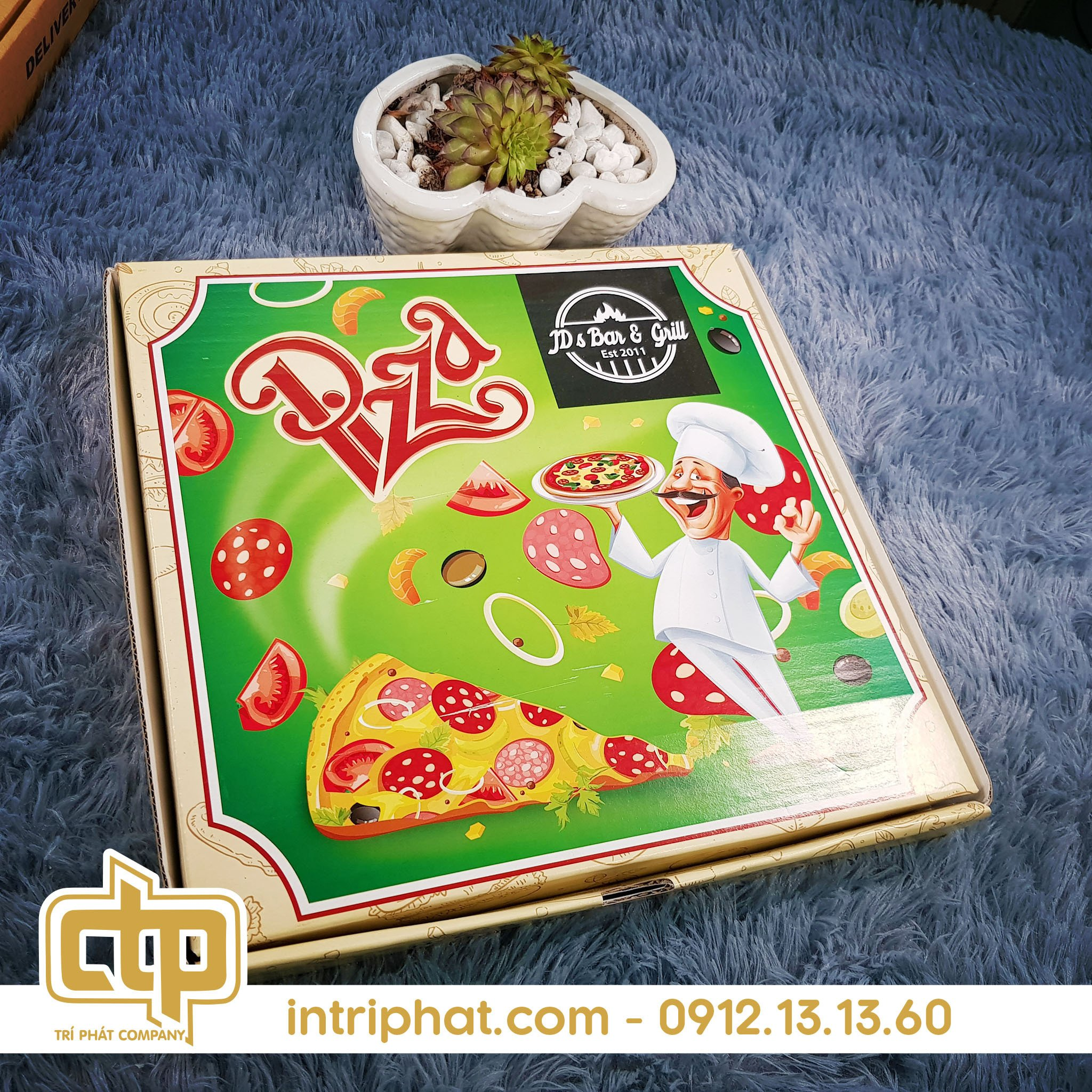 hộp bánh pizza hcm