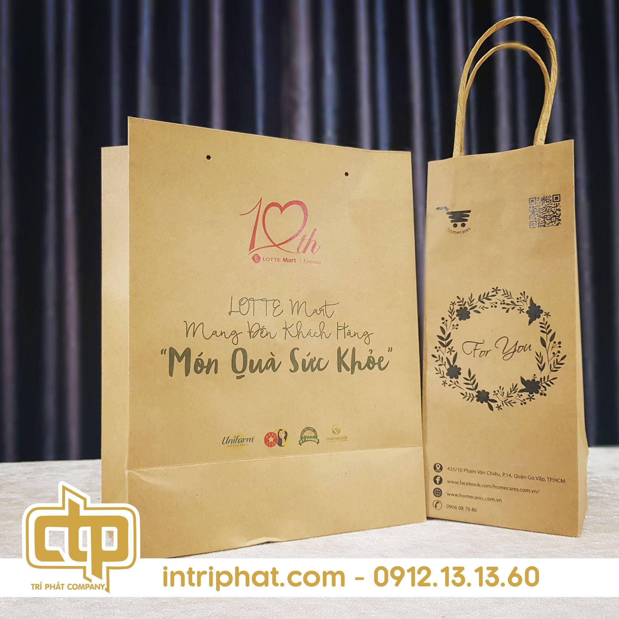 in túi giấy kraft giá rẻ được ưa chuộng