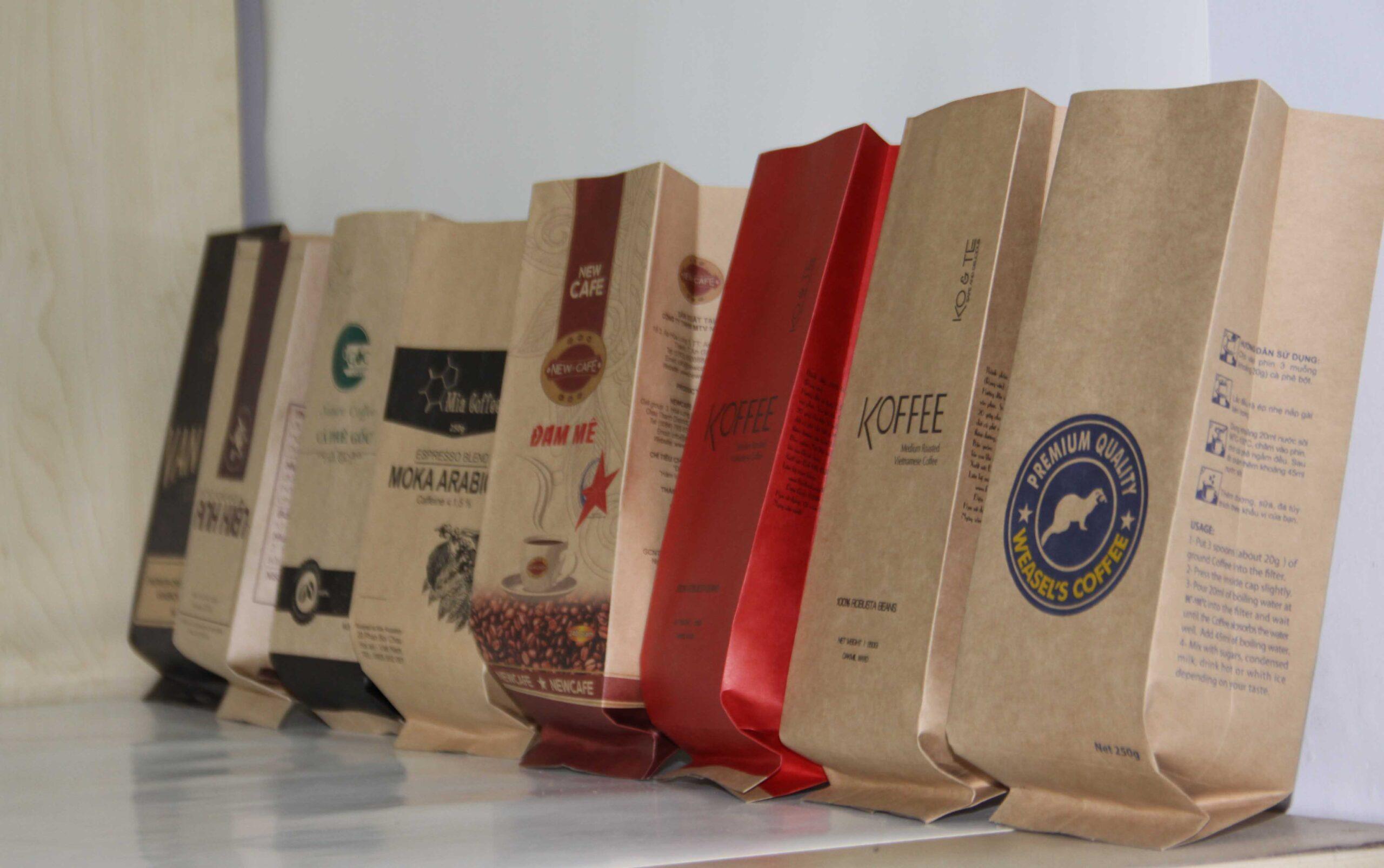 túi giấy đựng cà phê tại tphcm