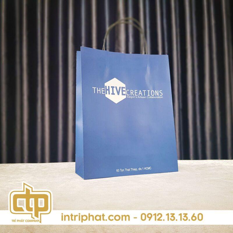 in túi giấy đựng quà giá rẻ