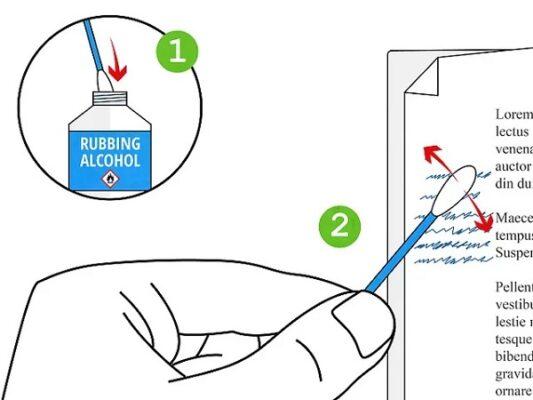 cách tẩy mực in trên giấy bằng hóa chất