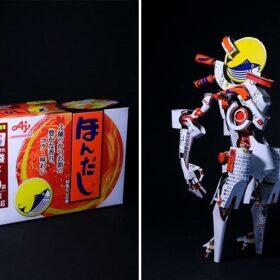 nghệ thuật từ hộp giấy đựng bánh kẹo