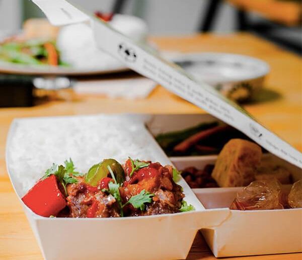 in hộp giấy đựng thức ăn nhiều ngăn