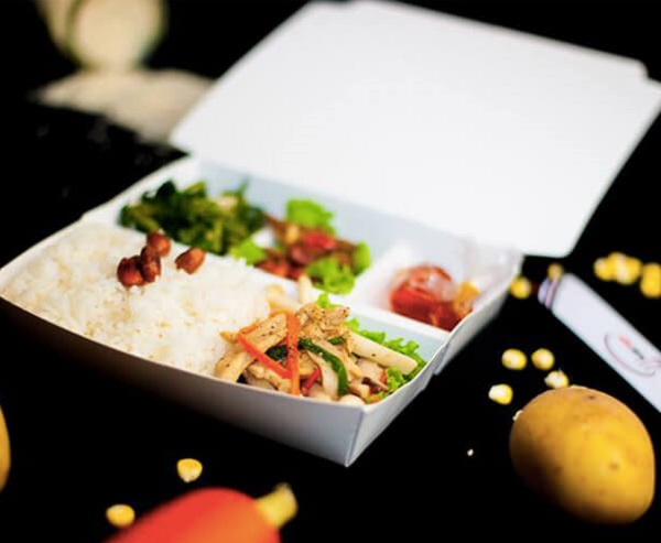 hộp giấy đựng thức ăn nhiều ngăn chất lượng