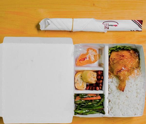 hộp giấy đựng thức ăn nhiều ngăn giá rẻ