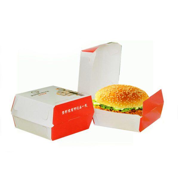 hộp hamburger giấy couche