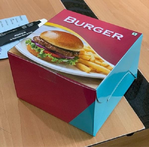 hộp hamburger giấy duplex