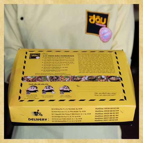 quy trình đặt in hộp đựng bún đậu mắm tôm