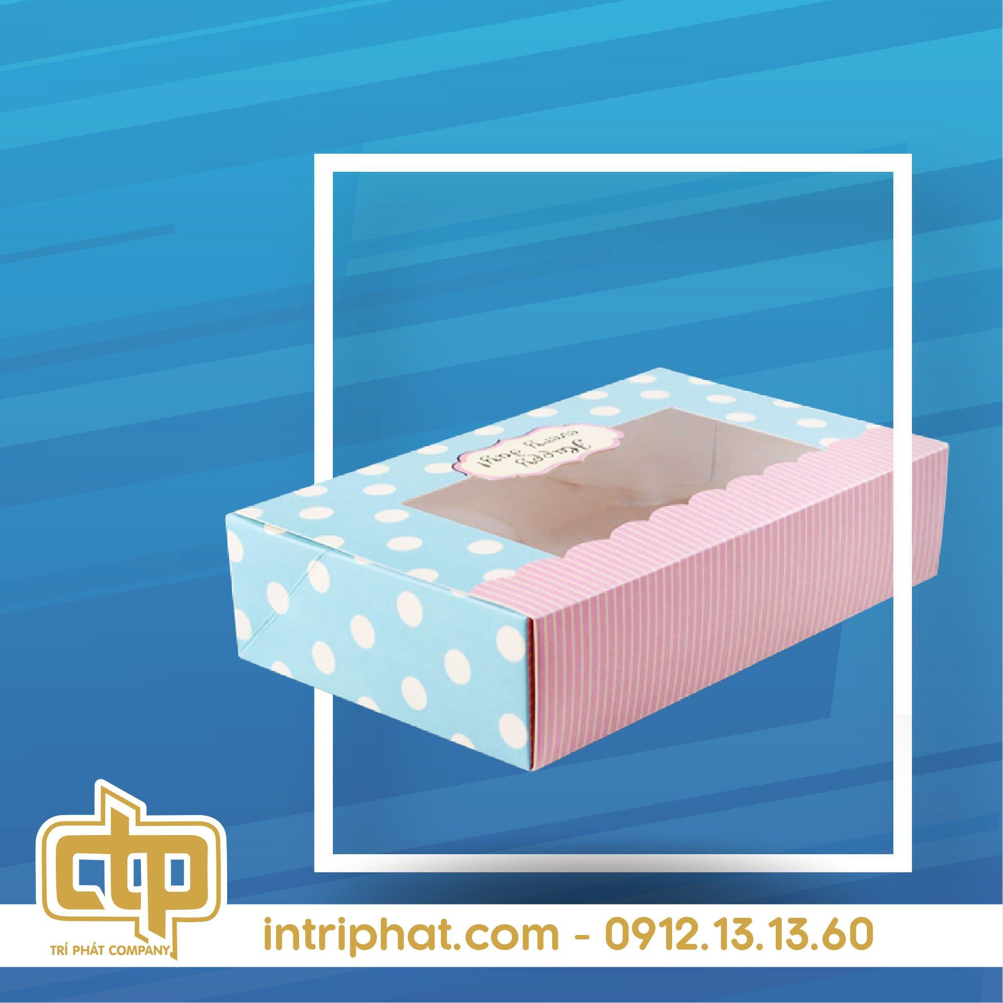 Mẫu hộp giấy đẹp đựng bánh kem giá rẻ