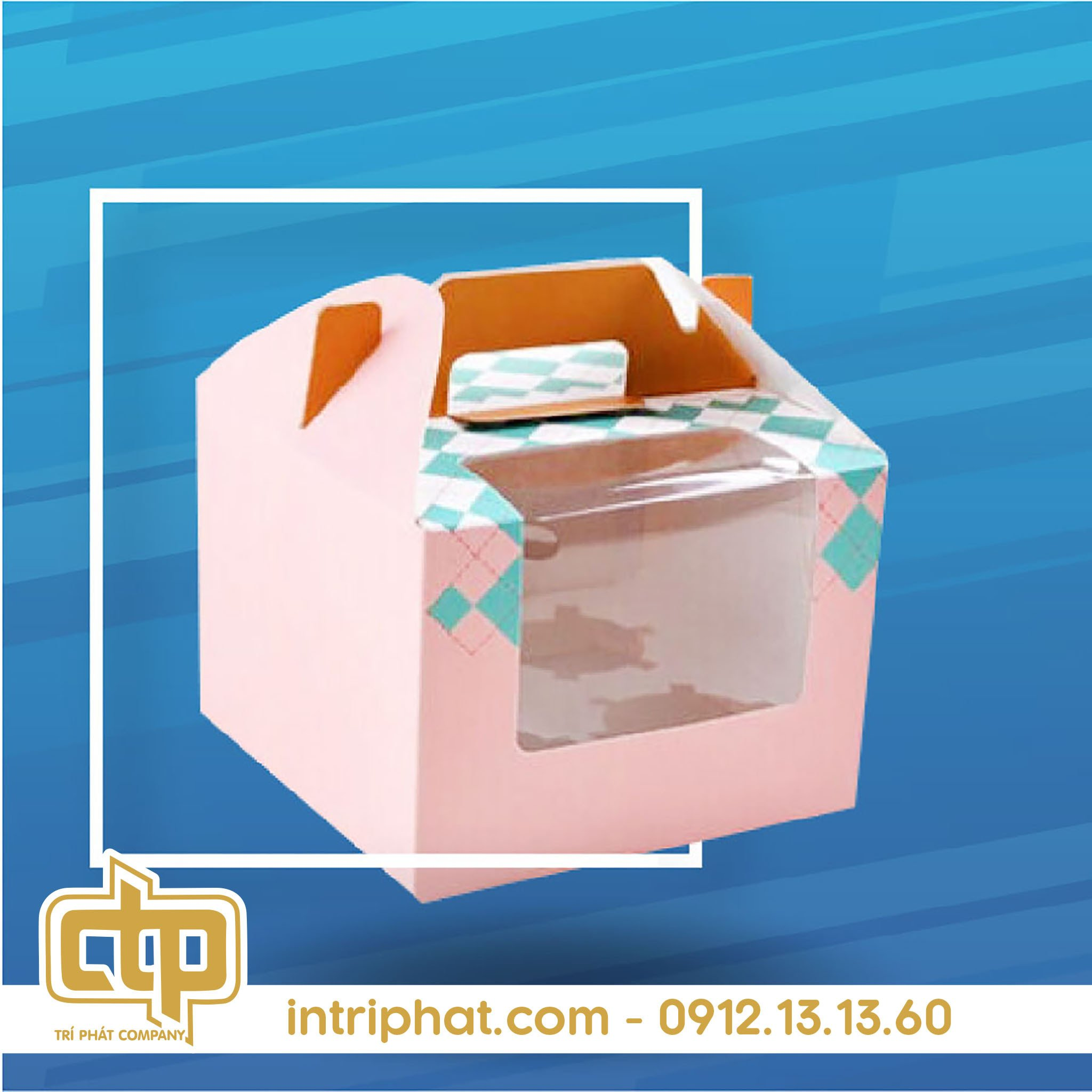 Mẫu hộp giấy đẹp đựng bánh kem cao cấp