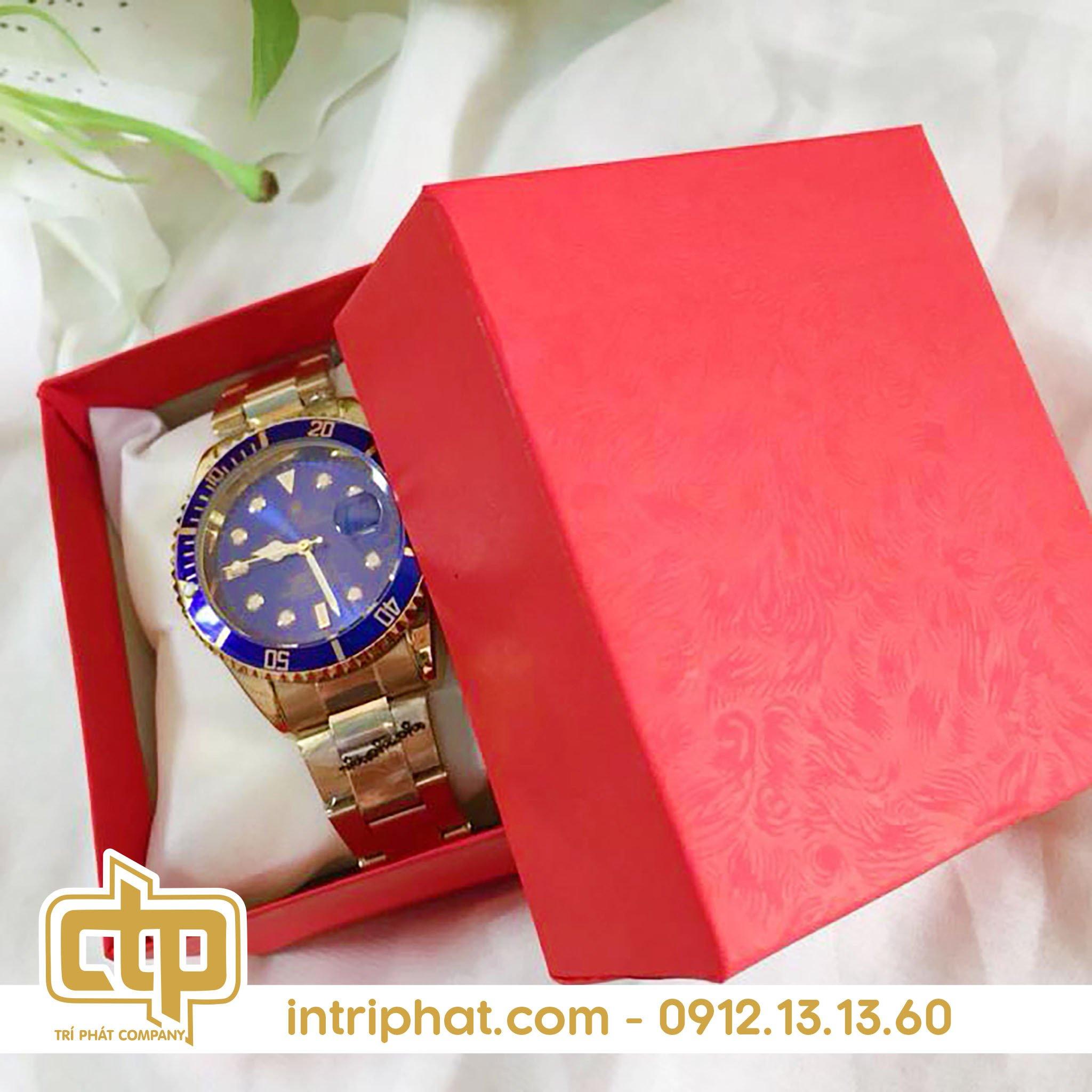 Mẫu hộp giấy đẹp đựng đồng hồ cao cấp