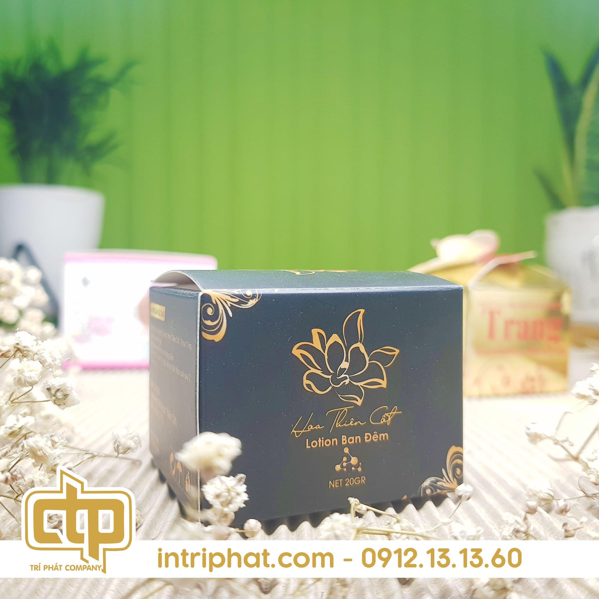 Mẫu hộp giấy đẹp đựng mỹ phẩm chất lượng