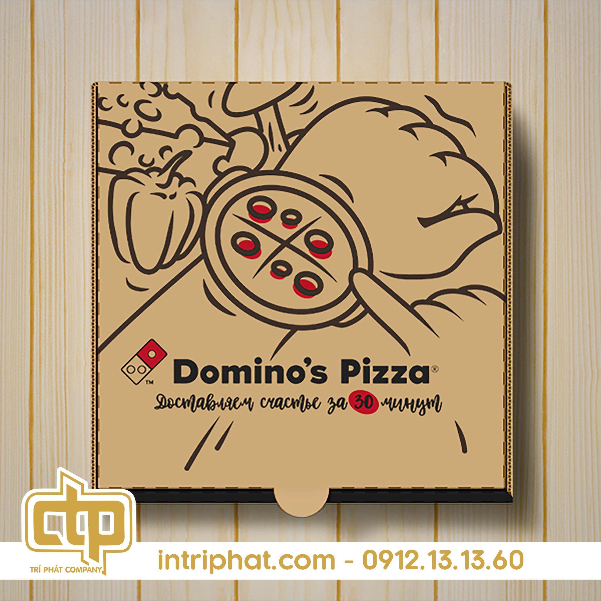 Mẫu hộp giấy đựng pizza đẹp