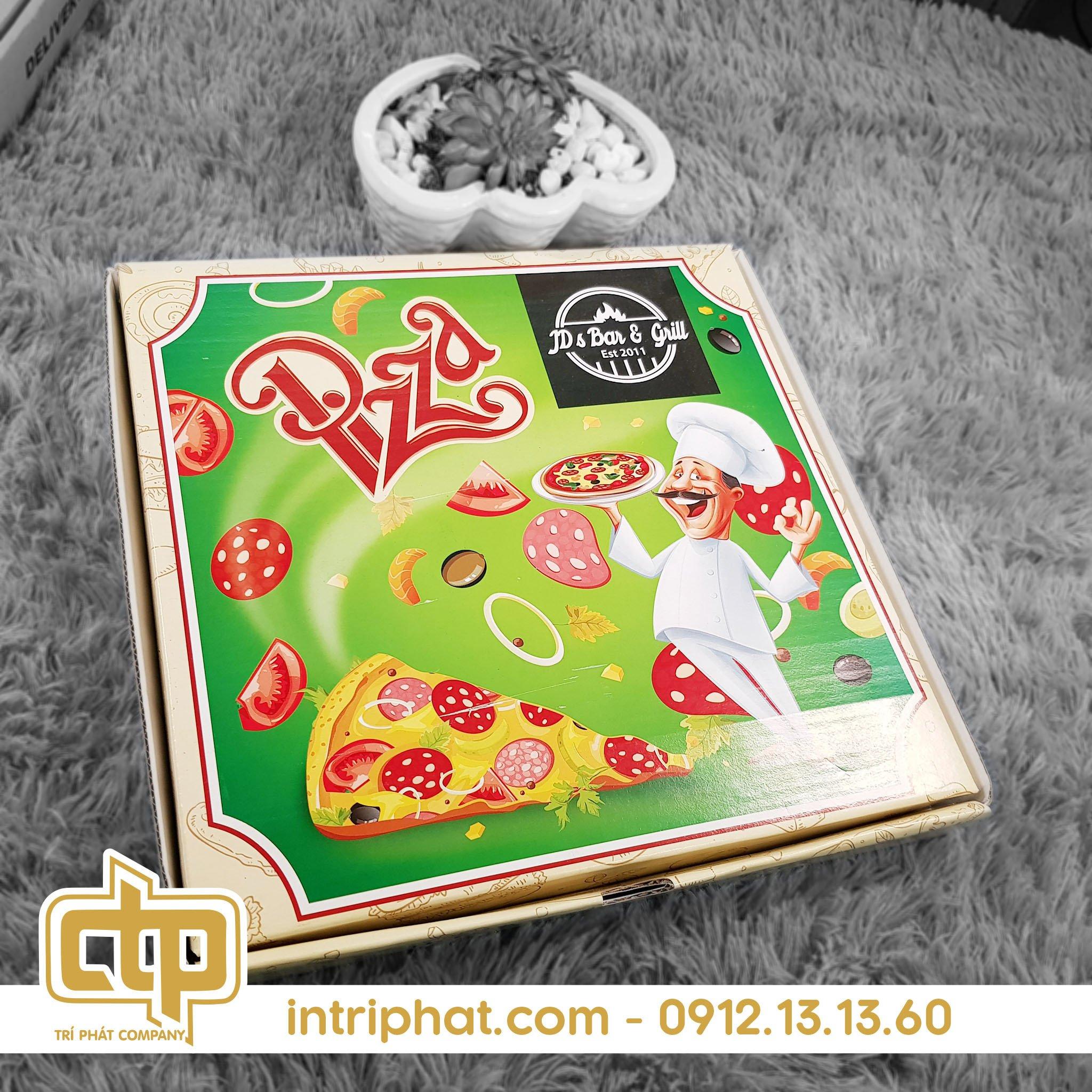 Mẫu hộp giấy đẹp đựng pizza