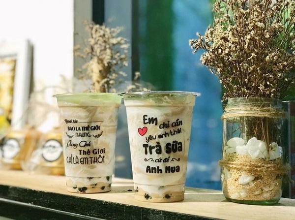 các mẫu tem trà sữa đẹp